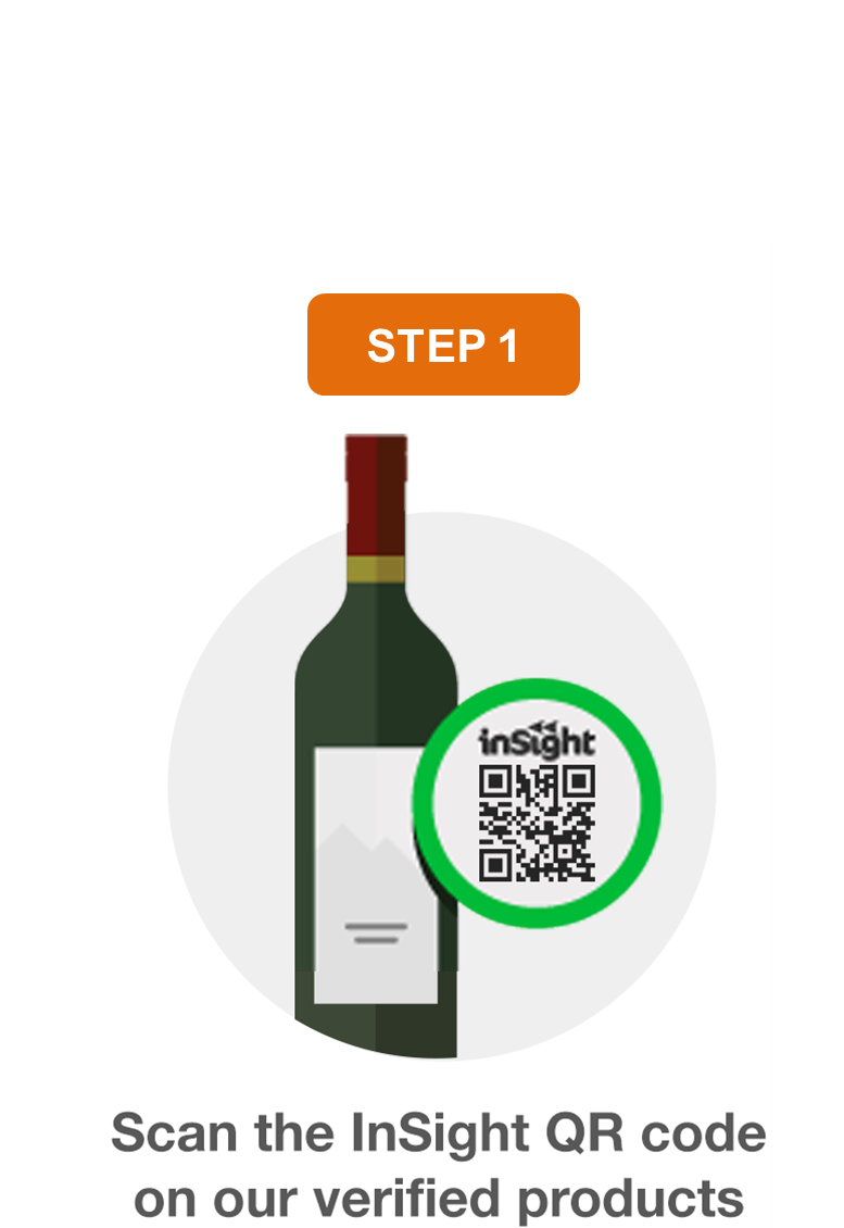 Scan qr code on product with your phone en